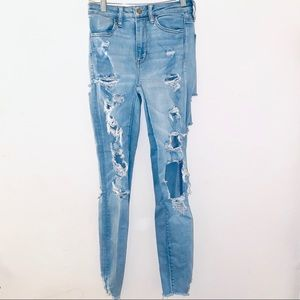 Sz 2 super high rise jegging American Eagle jeans